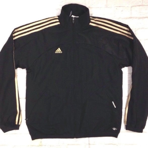 sports shoes d3940 f937c adidas Other - ADIDAS PREDATOR ZIP UP TRACK JACKET BLACK   GOLD M